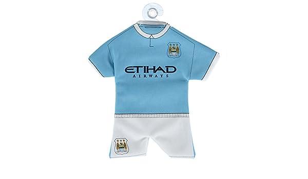 FC Manchester City Original Mini Kit f/ürs Auto//Fenster Trikot+Shorts mit Saugnapf OVP