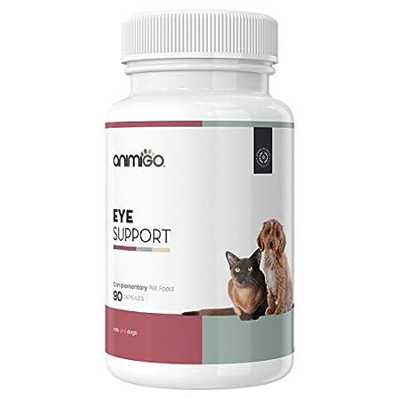 Animigo Eye Support – Augenpflege Komplex für Hunde und Katzen, Vitamin Tabletten Für Katze & Hund, Nahrungsergänzung hochdosiert für bessere Sehkraft, Vitamine für kleine & große Tiere – 90 Kapseln