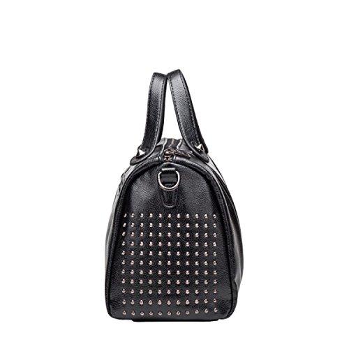 Leder Handtaschen Europa Und Die Vereinigten Staaten Wind Kissen Tasche Schultertasche Messenger Bag Purple