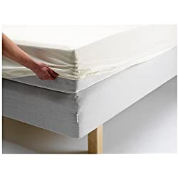IKEA DVALA - sábana ajustable, blanco - 80x200 cm