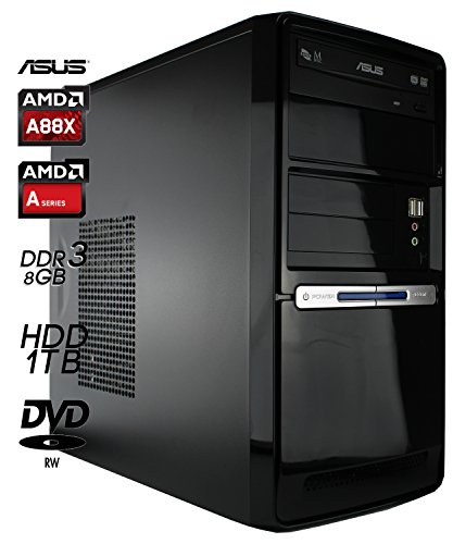 SNOGARD BasicLine Office-PC System AMD, A8-7650K 4x 3300MHz Sockel FM2+, 8GB RAM, 1000GB HDD, AMD Radeon R7 Graphics 720MHz Grafik, Desktop-Computer Büro Multimedia