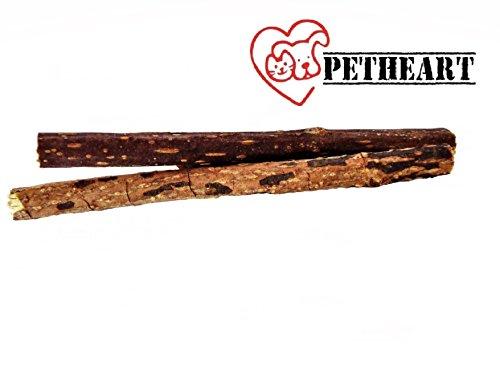 Petheart® Katzenminze-Sticks zur natürlichen und spielerischen Zahnreinigung - Katzen-Zahnbürste (2 Stück, Braun)