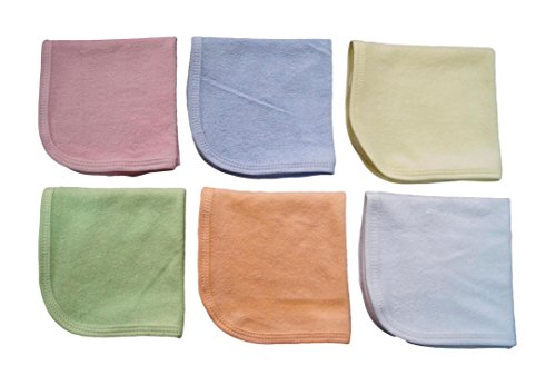 Tinny Tots Super Soft Baby Wash Cloths Pack of 6