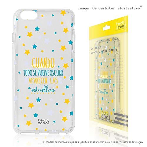 Funnytech® Coque pour Iphone 5 / 5S / Se l Housse TPU Silicone [Design Exclusif, Impression Haute Définition] [Couleurs Très Vives] [Todo Se vuelve Oscuro transp Amarillo]
