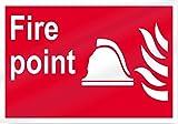 Eugene49Mor Fire Point Fire Point Fire Aluminium Metallschild – 35,6 cm breit x 25,4 cm hoch – UV-geschützt und Wetterfest