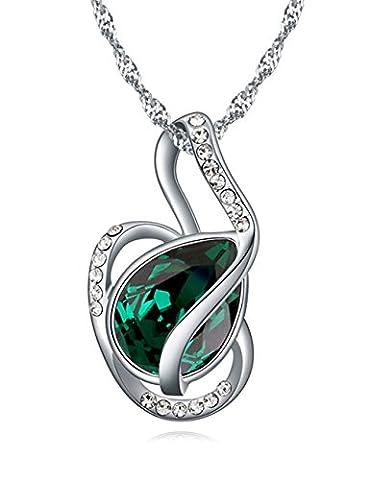 FANSING Bijoux Cadeau Autrichien Cristal Pendentifs Colliers Pour Femme Vert