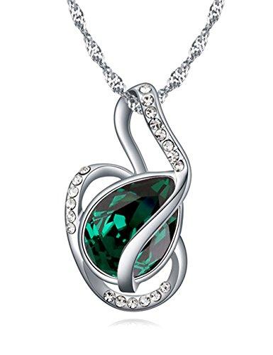 FANSING Schmuck Luxus Österreichischer Kristall Halskette Anhänger für Damen Mädchen (Mutter Und Kostüme Berühmten Tochter)