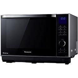 Panasonic NN-DS596MEPG Micro-ondes design vapeur et inverter, 27 liters, Argent/Noir
