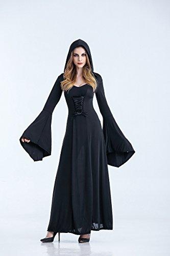 Ruanyi Vampir Kostüme Gothic Vampir Anzug Halloween Königin Dark Ghost Braut Bühnenkleid für Frauen (Size : XXL)