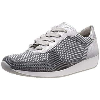ARA Damen LISSABON Sneaker, Grau-Hellgrau, Silber 10, 40 EU