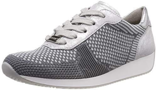 ARA Damen LISSABON Sneaker, Grau (Grau-Hellgrau, Silber 10), 38 EU