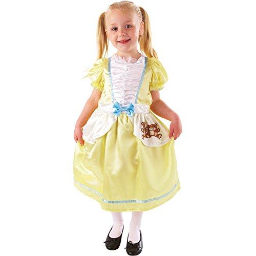 Goldlöckchen Kinderkostüme Welttag des Buches Party Outfit Märchen Kostüm - 116-128 (Kostüm Kinder Goldlöckchen)