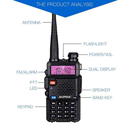 CAR SHUN UV-5R 5Wdual Band Zwei-Wege-Radio Enthält Full Kit (Police Scanner Car)