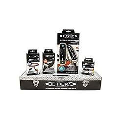 CTEK MXS5.0 (56-308) Toolbox Set Caricabatteria/Tester, 12V-5A, con Accessori di Connessione