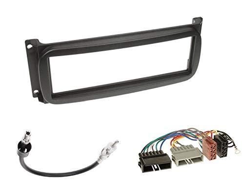 1 Din Radio Einbauset Blende Radioanschlusskabel Antennenadapter für Jeep Grand Cherokee (WJ) 1999-2001