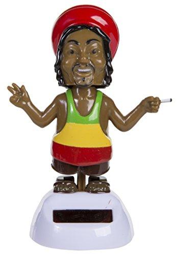 Bada Bing Solar Wackel Figur Rastafari Rastaman Reggae Peace (Rasta Peace-zeichen)