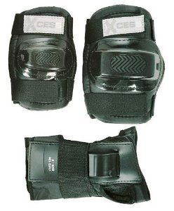 Knieschoner, Ellenbogenpolster und Handgelenkschoner (für Kinder, 3 Teile) schwarz