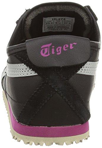 Onitsuka Tiger - Mexico 66, Sneaker basse Donna Nero (Black/Soft Grey 9010)