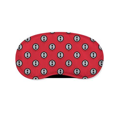 Jnday Black Widow Logo Avengers Superhero Inspired Schlafaugenmaske/Augenmaske