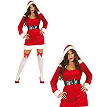 Disfraz de mama Noel adulta talla-S