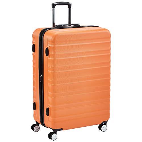 AmazonBasics, Trolley rigido di ottima qualità con rotelle pivotanti, 71 cm, arancione