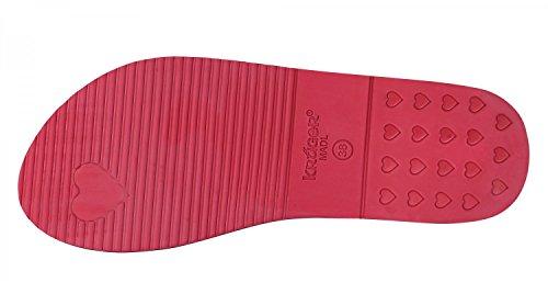 Flip KRUEGER Madl Ladies Flops 4113-9 rouge, Gr. 37-40 Rouge