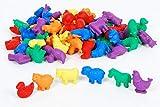 Conjunto de figuritas de animales de granja para contar (72 unidades)