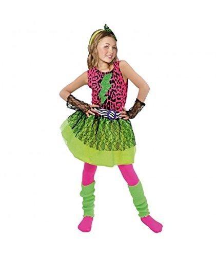Disfraz Estrella del Pop 80's niña infantil para Carnaval (7-9 años)