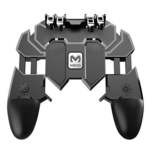 Game Helper Ak66 Memo Mobile Phone Game Handle For Pubg Six Finger All-in-one Mobile Controller Joystick Gamepad L1 R1 Trigger