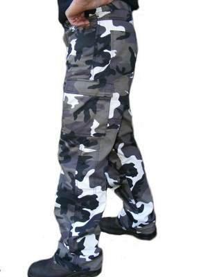 Bikers-Gear-UK-Pantalone-grigio-Camouflage-TREND-Cargo-con-protezione-KEVLAR-e-Impermeabile-taglia-EU-40-REGULAR