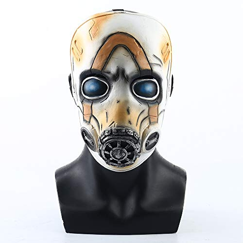 Borderlands Cosplay Kostüm - XDDXIAO Spiel Borderlands 3 Psycho Cosplay Maske Vollgesichtslatex LED-Licht Erwachsene Requisiten Kostüm Party Halloween Kostüm Ball,Notemitting