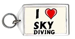 I love Sky diving Keychain