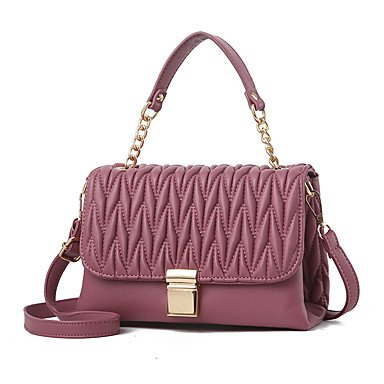Frauen Handtasche Mode Leder Schulter Messenger Crossbody Taschen / Handtaschen Tote Violet Pink