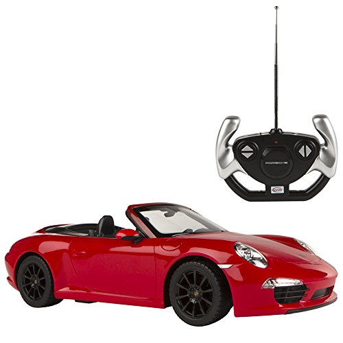 Rastar - Porsche 911 Carrera S, coche teledirigido, escala 1:12, color rojo...