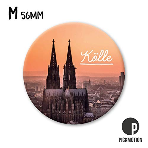 Pickmotion Design Magnete - rund 56mm - Motiv: Köln Dom