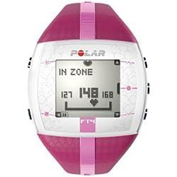 Polar FT4 - Monitor de ritmo cardíaco (30m, Rosa, Púrpura)