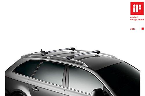 Thule WingBar Edge 90401229 Komplett System inkl. Schloss für VOLKSWAGEN Golf Variant/Sportcombi (VII) - Der leise und sichere Lastenträger