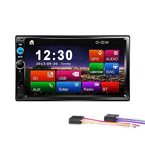 BEENZY Bluetooth-Autoradio, 7-Zoll-Universal-4-Din-HD-MP5-Player, Multimedia-Radio-Unterhaltung mit USB/TF-FM-Aux-Eingang Digital-Touchscreen-Multimedia-Video (Multimedia-player Mp5)