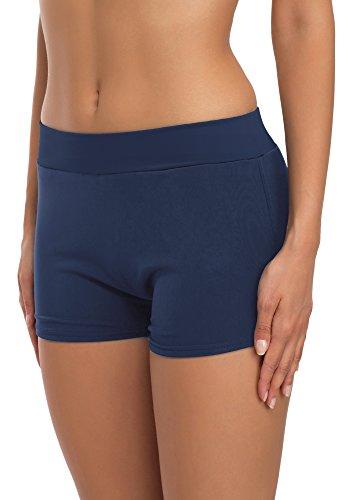 Merry Style Short de Bain Sport Maillot Vêtement Été Femme S1R1(Bleu Sombre (6219), EU 34 (FR 36))