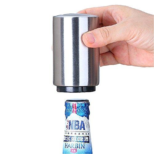 Abridor de cerveza automático con tapón magnético de acero inoxidable, herramienta para...