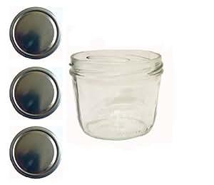 Sturzgläser lot de 40 pots à confiture 230 ml avec couvercle to 82 doré
