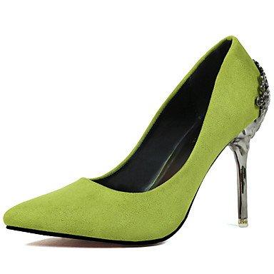 RTRY Scarpe Da Donna In Pelle Scamosciata Primavera / Autunno Punta Nozze Tacchi Stiletto Heel Slip-Onblack / Verde Rosso Rosa Grigio Argento Oro US7.5 / EU38 / UK5.5 / CN38