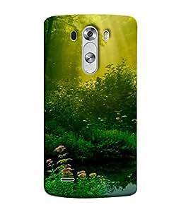 PrintVisa Designer Back Case Cover for LG G3 :: LG G3 Dual LTE :: LG G3 D855 D850 D851 D852 (Sunrays Pond Dense Trees Sunlight)
