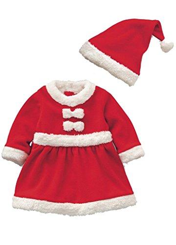 Weihnachten Baby Mädchen Kleid Kostüme Anzug Weihnachtskleid Weihnachtsmann-Kostüm (Kleid Weihnachtsmann Mädchen)