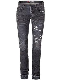 PRPS NOIR Jeans RAMBLER Destoyed Look grau