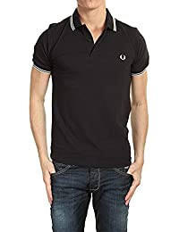 FRED PERRY Polo Noir manche courte Slim Fit M3600 524