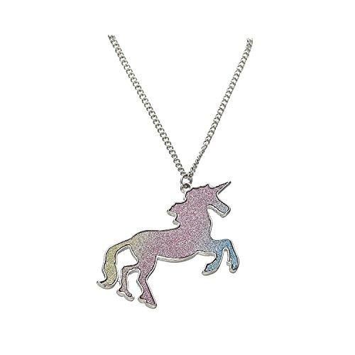 Silber Halskette Einhorn Pferd für Kinder Mädchen Schmuck Geschenke (multicolor)