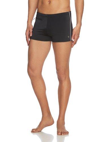 Schiesser Badeshort, sportliche Herren Badehose mit Streifen und Reißverschluss Tasche Schwarz (schwarz 000)