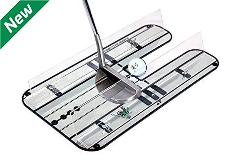 Golf Entrainement Putting | Putting Kit Haut de Gamme - Golf XL Miroir d'Alignement pour Le Putting...