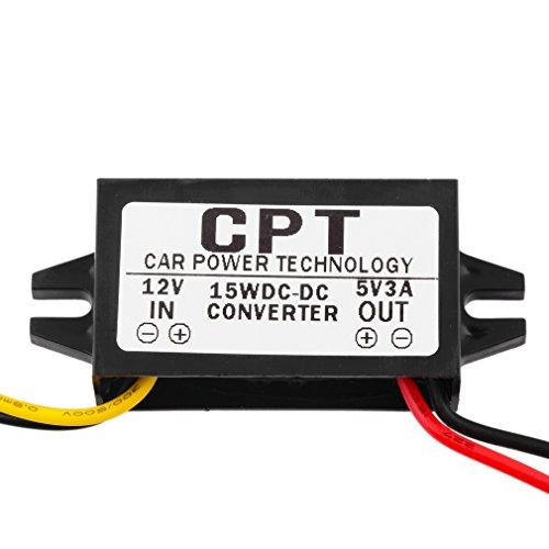 Transformador Convertidor 12V a 5V 3A 15W 1PCS DC/DC Corriente Coche Led Display Power Coche Transformador Convertidor